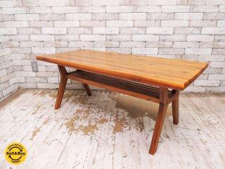 ダブルティー WTW アペルト APERTO コーヒーテーブル ローテーブル アカシア材 天然木 幅120cm 廃番 定価:¥59,400- ●