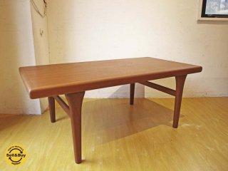 デンマーク ビンテージ チーク材 センターテーブル Danish Teak Wood Center table ヨハネス・アンダーソン オマージュデザイン コーヒーテーブル★