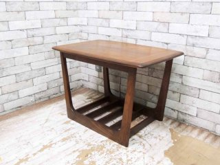 USビンテージ 木製 サイドテーブル コーヒーテーブル ミッドセンチュリー ●