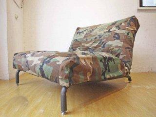 ジャーナルスタンダードファニチャー journal standard furniture ロデ Rodez Chair カバーリング リクライニングソファ 1P 迷彩柄 ★