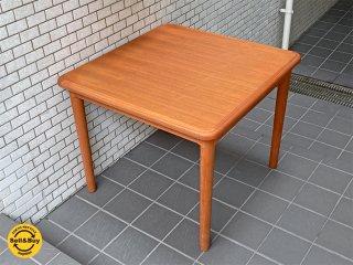 ジャパンビンテージ チーク材 エクステンション ダイニングテーブル ■