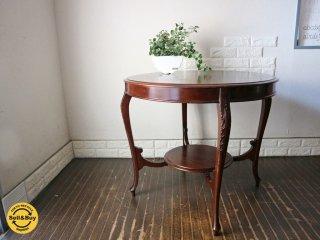 英国 アンティーク Antique ダイニングテーブル マホガニー材 イギリス カフェテーブル ◎