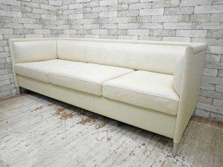 ノル Knoll リー ラウンジ ソファ Lee Lounge Sofa 3人掛け ソファ 本革 レザー ホワイト ギャリー・リー Gary Lee ●