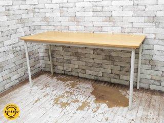 無印良品 MUJI ユニット システムデスク テーブル オーク材 スチール脚 W150cm シンプルデザイン ●
