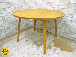 ヘイ HAY トライアングル レッグ テーブル TRIANGLE LEG TABLE ダイニングテーブル オーク材 Φ115cm 定価217,800円 北欧家具 ●