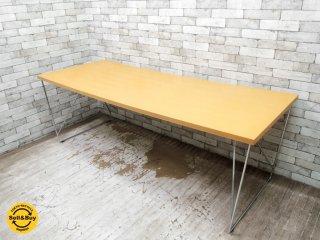 北欧モダン Scandinavian modern ダイニングテーブル ワーキングテーブル ビーチ材 × スチール ●