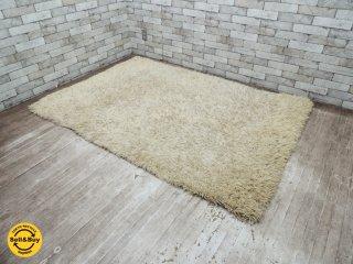 マイスター MEISTER シャギーラグ ラグマット 絨毯 ベージュ W200×D135 ●