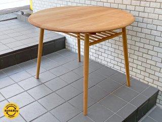 モモナチュラル Momo Natural モチャ MOCHA 950 サークルテーブル CIRCLE TABLE ダイニングテーブル アルダー材 展示美品 ■