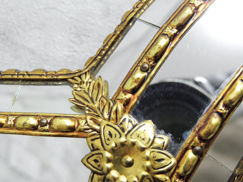 ヨーロピアンクラシカル European Classical ウォールミラー 鏡 デコラティブ 楕円形 ●