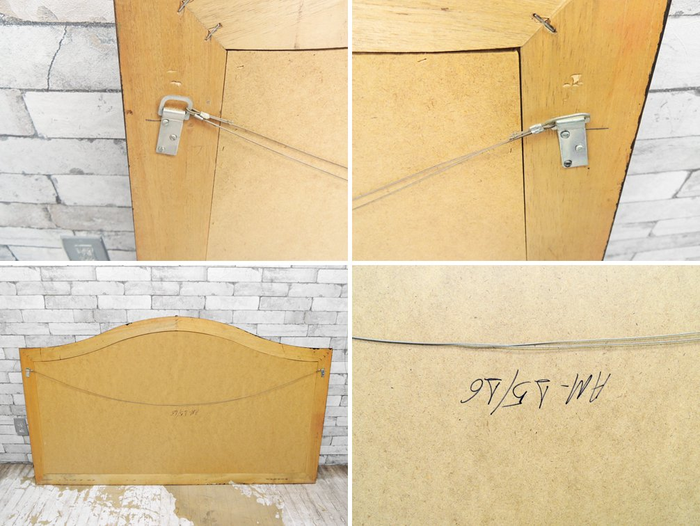 ヨーロピアンクラシカル European Classical ウォールミラー 壁掛け 鏡 アンティーク調 ゴールド H92.5cm ●