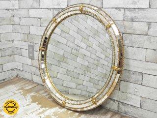 ヨーロピアンクラシカル European Classical ラウンドウォールミラー 鏡 デコラティブ 円形 ●
