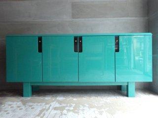モダンデザイン Modern Design サイドボード リビングボード 4枚扉 グリーン ピアノフィニッシュ イタリア ♪