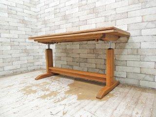モモナチュラル Momo Natural ベント VENT 3WAYテーブル 3WAY TABLE 昇降式 エクステンション センターテーブル オーク材 ●
