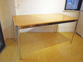 USMモジュラーファニチャー USMハラー テーブル USM Haller Table ワーキングテーブル ダイニングテーブル デスク ビーチ材 ナチュラル天板 ★