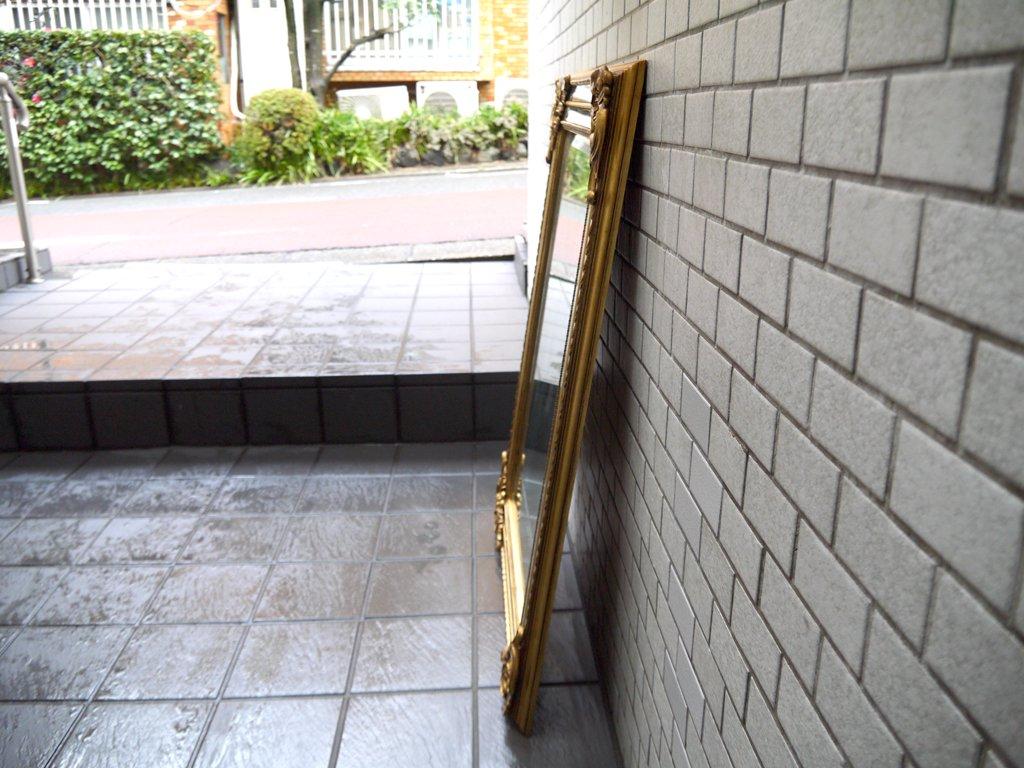 ヨーロピアンクラシカル European Classical ウォールミラー 壁掛け 鏡 アンティーク調 ゴールド H92cm スペイン製 ■