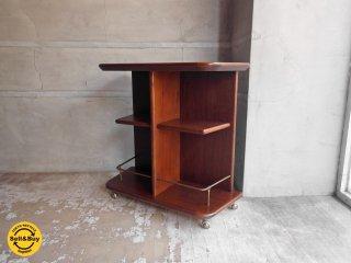 マルニ木工 maruni オープンワゴン サイドテーブル キャスターシェルフ ビンテージ ♪