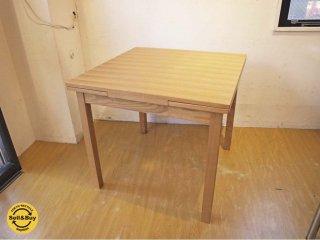 無印良品 MUJI タモ材 伸長式 ダイニングテーブル 幅80〜130cm EX ダイニングテーブル ★