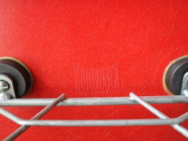 モダニカ Modernica アームシェルチェア FRP ファイバーグラス レッド ロッカーベース C&R イームズ アメリカ製 ミッドセンチュリー ◎