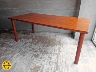 チーク無垢材 ダイニングテーブル 丸脚 W180cm ♪