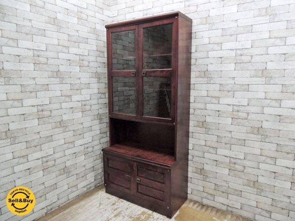ジャパンビンテージ 木製 飾り棚 カップボード 食器棚 ●
