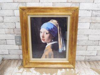 ヨハネス・フェルメール Johannes Vermeer 真珠の耳飾りの少女 Girl with a Pearl Earring 複製画 オランダ ●