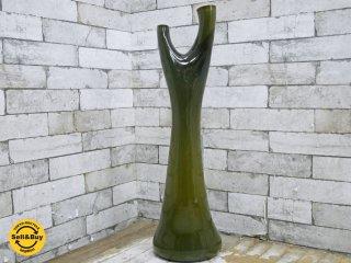 ガラス工房 フレスコ fresco 辻野剛 二口 フラワーベース 現代作家 ●