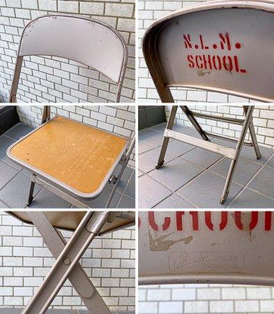 クラリン CLARIN フォールディングチェア  Folding chair 板座 50'S ビンテージ 折り畳みチェア ウッドシート 米国 ■