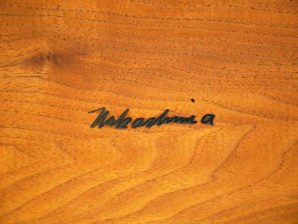 ジョージ・ナカシマ George Nakashima 桜製作所 CN103 ラウンジ アーム LOUNGE ARM ラウンジチェア ウォールナット無垢材 焼印入り ●