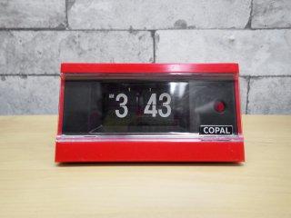 コパル COPAL パタパタ時計 AP-113 レッド レトロ モダン ミッドセンチュリー ●