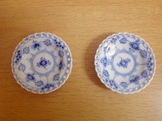 ロイヤルコペンハーゲン ROYAL COPENHAGEN ブルーフルーテッド フルレース ミニプレート 小皿 豆皿 7.5cm 2枚セット♪