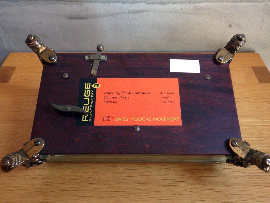 リュージュ REUGE オルゴール Music Box 72弁 CH3/72 3曲入り ガラスケース スイス ♪