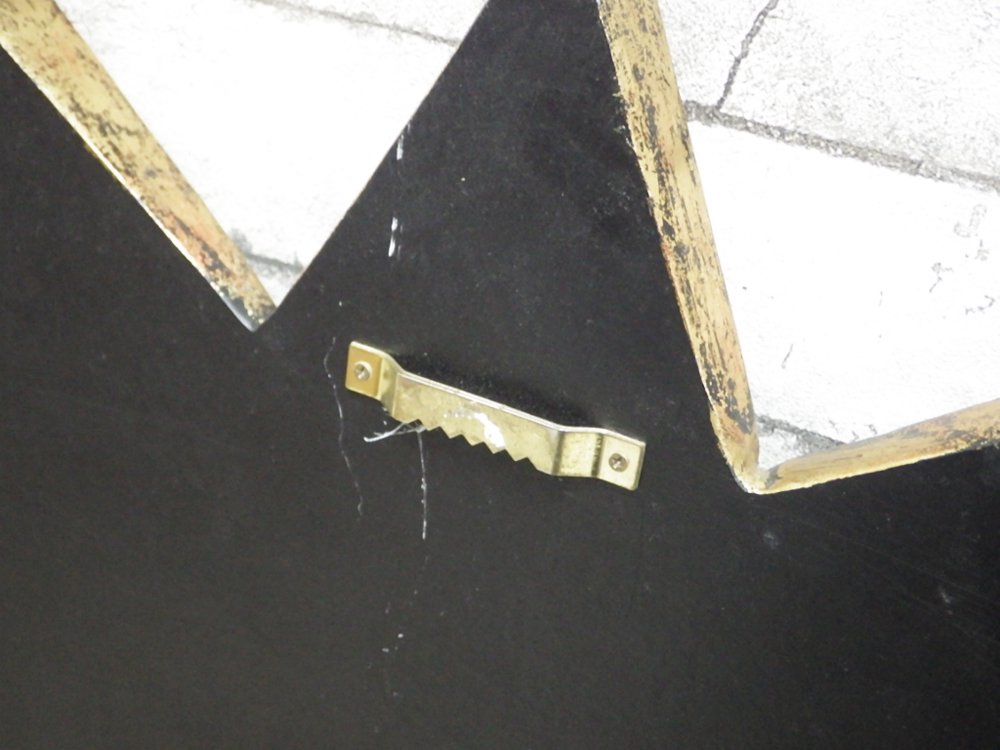 ビンテージスタイル サンバースト ウォールミラー 鏡 ゴールド W67cm ミッドセンチュリー ●