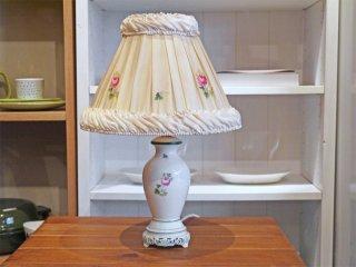 ヘレンド HEREND ウィーンのバラ テーブルランプ ハンドペイント 陶器製 透かし彫り 照明 ハンガリー ■