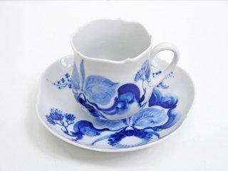 マイセン Meissen ブルーオーキッド Blue orchid カップ&ソーサー C&S A ●