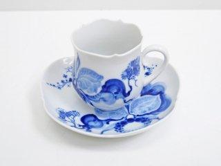 マイセン Meissen ブルーオーキッド Blue orchid カップ&ソーサー C&S B ●