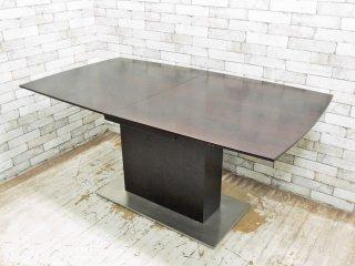 アレッタ ALETTA エクステンション ダイニングテーブル 伸長式 モダンデザイン ●