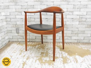ヨハネスハンセン JOHANNES HANSEN ザ・チェア The Chair JH503 チーク材 ビンテージ ウェグナー JH焼印 美品 ●