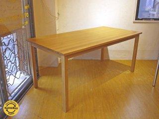 無印良品 MUJI ダイニングテーブル Dining table タモ無垢集成材 シンプル ナチュラル 幅165cm ★