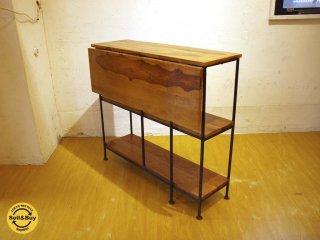 アイアン ウッド バタフライテーブル Iron Wood Butterfly Table ディスプレイ テーブル 伸長式 アンティークスタイル シャビー ★
