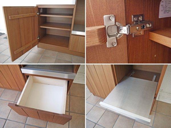 ウニコ unico ストラーダ STRADA キッチンカウンター W900 オープンタイプ ( キッチンボード 作業台 レンジボード ) 定価:¥86,184- 収納家具 ◇