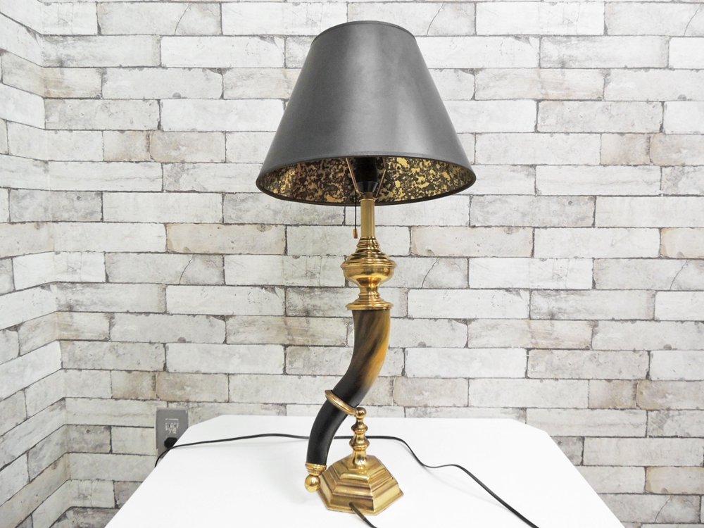 ヤマギワ yamagiwa ウォーターバッファローボーン テーブルランプ ゴシックデザイン B ●