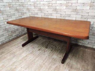 ジャパンビンテージ チーク無垢材 ダイニングテーブル 180cm 北欧スタイル ●