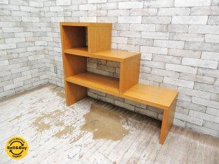 ナチュラルデザイン オーク材 ネストテーブル サイドテーブル AVボード シェルフ 入れ子式 ●