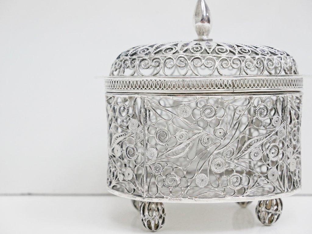 ヨーロピアンクラシカル European Classical 銀線細工 ジュエリーボックス シルバー ●