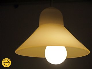 高橋禎彦 ガラス ペンダントライト 吹きガラス ホワイト 照明 工芸作家 ■