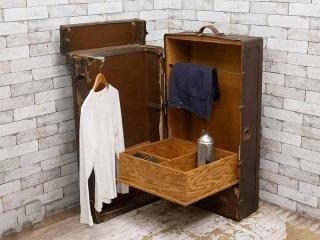 USビンテージ トランクケース  ワードローブ アンティーク ディスプレイ 店舗什器 ●