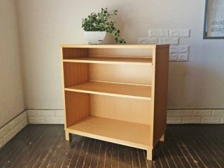 無印良品 MUJI 組み合わせて使える木製収納 オーク材 シェルフ 本棚 奥行40cm ◎