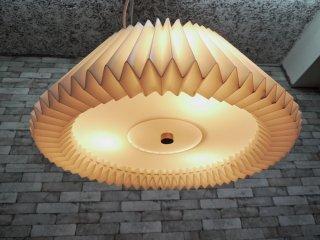 ノーブルスパーク NobleSpark JKC137 ペンダントライト ホワイト プリーツ  3灯 北欧デザイン ●