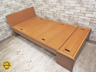 フォルミオ FORMIO ベッドフレーム KF-06 ブナ材 ナチュラルデザイン 定価約18万 ●
