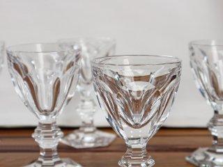 バカラ Baccarat アルクール Harcourt ワイングラス  5客セット ゴブレット クリスタルガラス フランス ◎